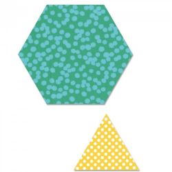 "661647 Sizzix Bigz Plus Q Die - Hexagon, 3 1/2"" Sides w/Equilateral Triangle, 4"" Sides"